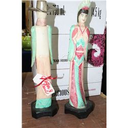 2 Mother-of-Pearl Figurines