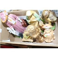 Box of Assorted Figurines