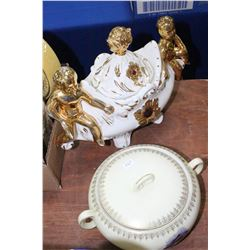 Covered Serving Bowl (Prussia) & Covered Serving Bowl (Italy)