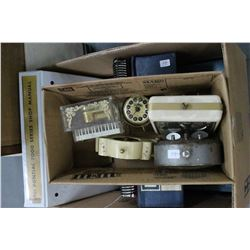 Box of Assorted Clocks - Westclox; 1 Germany, etc.