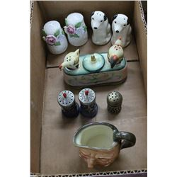 Flat w/Salt & Pepper Shakers (RCA Victor Nipper, Occupied Japan,etc.) and a Royal Doulton Toby Jug