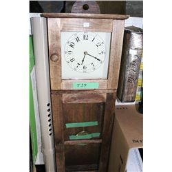 Wall Clock in Wooden Case - with Pendulum