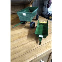 John Deere Wagon Box (Plastic) & a Manure Spreader (Metal)