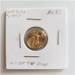 2013 1/10 Oz $5 GOLD American Eagle