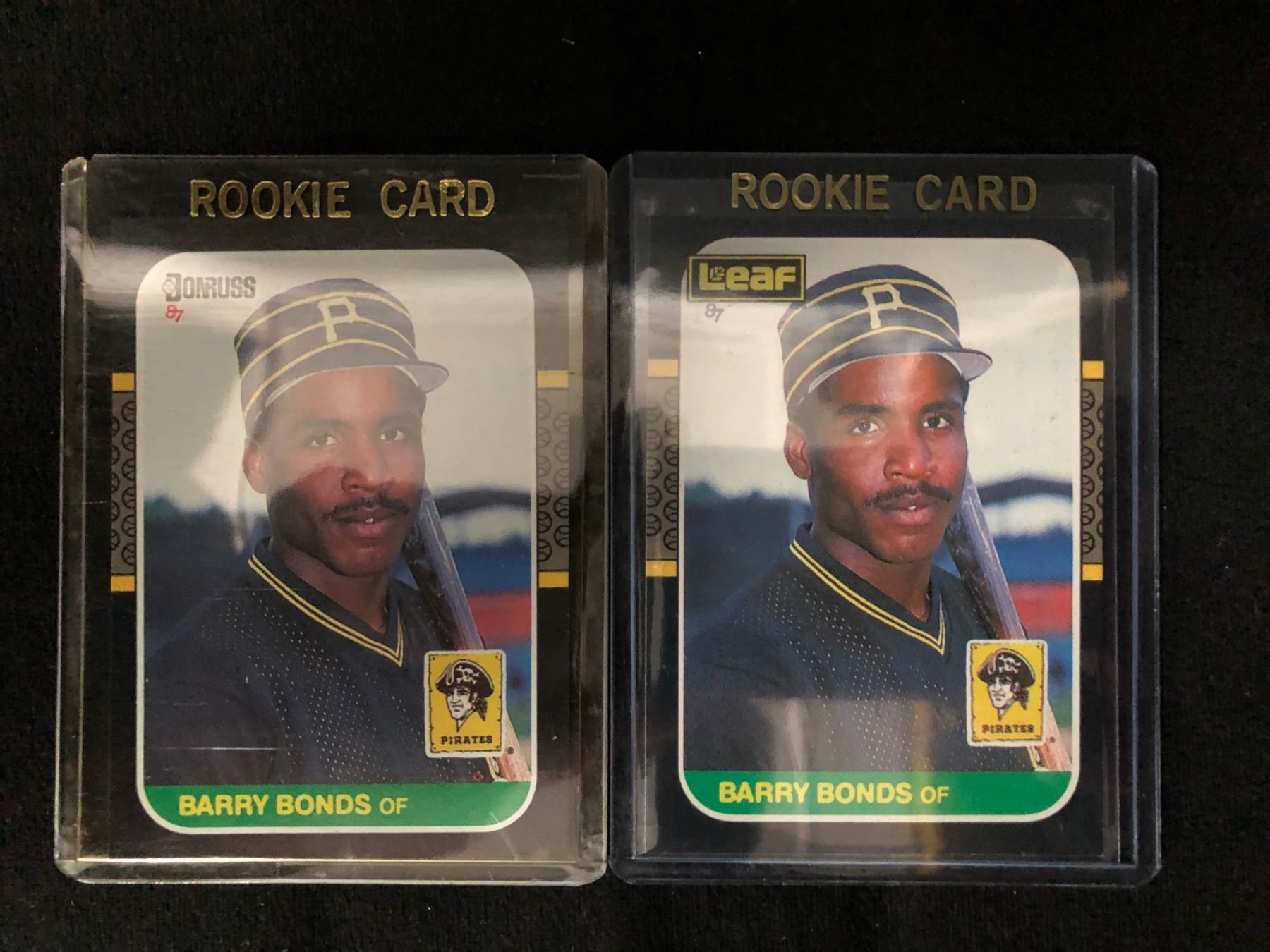 Barry Bonds Rookie Baseball Card Lot Donruss 361 Leaf 219