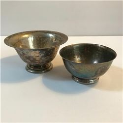 Pair of Silver Plate Bowls