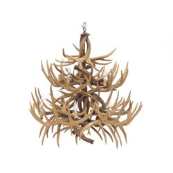 "Faux Antler Chandelier. Height 32""; Diameter 34"""