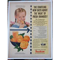 1960 Sunkist Oranges Magazine Advertisement