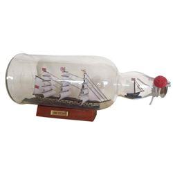 "HMS Victory Model Ship in a Glass Bottle 11"""