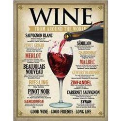 """Wine Around the World 12.5""""Wx16""""H"""
