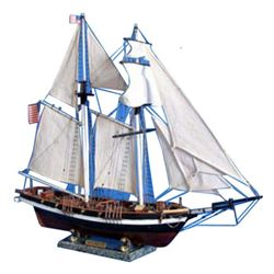 "Wooden Baltimore Clipper Harvey Tall Model Ship 32"""