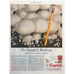 1950's Campbell's Mushroom Soup Magazine Advertisement