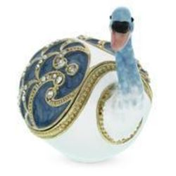 The Swan Royal Russian Jewelry Trinket Box