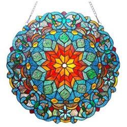 "Tiffany-style Glass Window Panel 21"""
