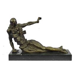"""The Anthropomorphic Cabinet (1936) by Salvador Dali Surreal Bronze Sculpture 8"""" x 12"""""""
