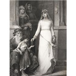 19thc Photogravure Print, Blanche Of Castile