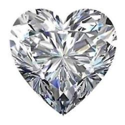 Heart Bianco Diamond 6AAA Loose Stones 7X7mm