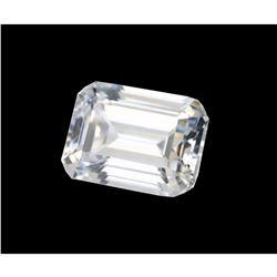 Exceptional, clean, 6 Ct, Emerald Step-cut BIANCO Diamond^6AA 12x10mm