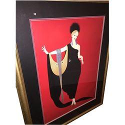 Erte, Glamour, Offset Lithograph Framed Print