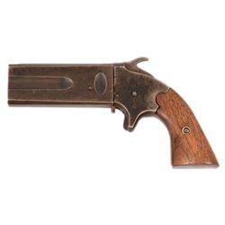 1860's Over Under Swivel Barrel Percussion Pistol