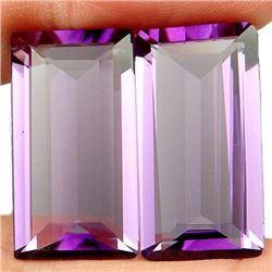 27.75ct. Purple Amethyst Baguette Pair