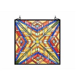"""PRIME"" Tiffany-glass Window Panel 24"""