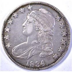 1834 CAPPED BUST HALF DOLLAR  XF/AU  LUSTRE