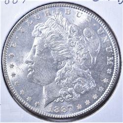1887 CH BU+ MORGAN DOLLAR