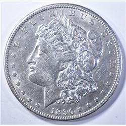 1890-CC MORGAN DOLLAR   AU/BU