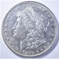 1879-S MORGAN DOLLAR   REV OF 78   AU/BU