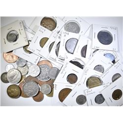 47 FOREIGN COINS SEE PICS