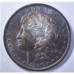 1896 MORGAN DOLLAR BU RAINBOW COLOR
