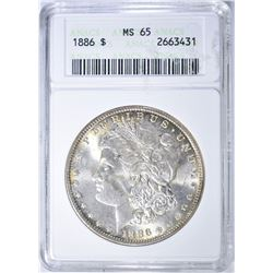 1886 MORGAN DOLLAR   ANACS  MS-65