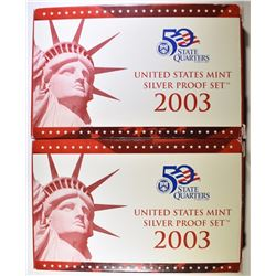2-2003 U.S. SILVER PROOF SETS