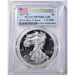2017-W FIRST DAY PCGS PR-70DCAM 1 OF 1000