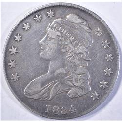 1834 CAPPED BUST HALF DOLLAR  XF