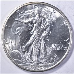 1934 WALKING LIBERTY HALF DOLLAR CH BU