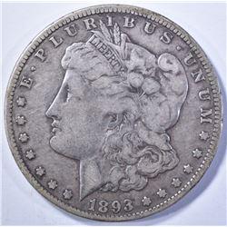 1893-O MORGAN DOLLAR, CHOICE VF