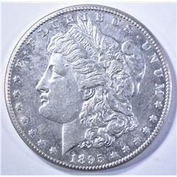 1895-O MORGAN DOLLAR, AU/BU KEY COIN