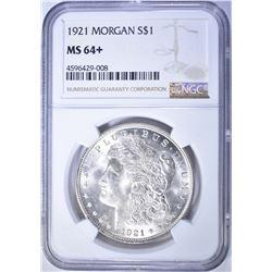 1921 MORGAN DOLLAR, NGC MS-64+