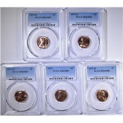 (4) 1972 D AND 1 1972 LINCOLN CENTS