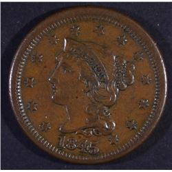 1845 BRAIDED HAIR LARGE CENT AU