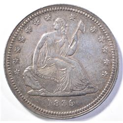 1839 NO DRAPERY SEATED LIBERTY QUARTER BU
