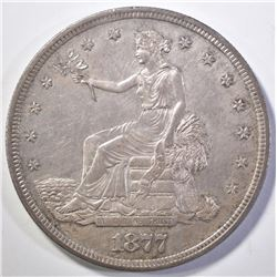 1877-S TRADE DOLLAR CH BU OLD CLEANING