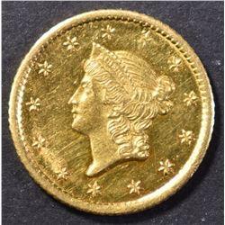 1853-O $1 GOLD CH BU