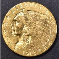 1913 $2.5 GOLD INDIAN CH BU