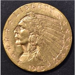 1915 $2.5 GOLD INDIAN CH BU