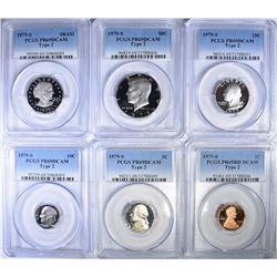 1979-S TYPE 2 PROOF SET ALL PCGS PR-69 DCAM