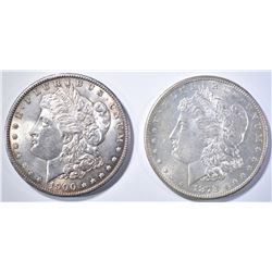 1878-S & 1900 MORGAN DOLLARS BU