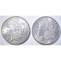1896 & 1887 MORGAN DOLLARS BU